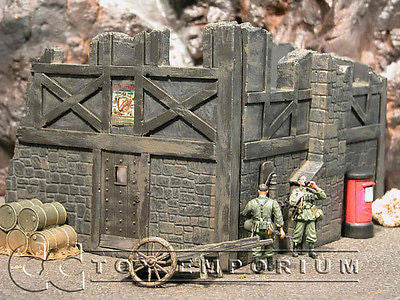"""RETIRED"" Pro Built - Hand painted & Weathered Verlinden 1:35 WWII Custom Gothic Tavern Ruin"