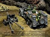"""BRAND NEW"" Forces Of Valor 1:32 Scale WWII German Kfz. 69  Personnel Carrier w/3 Soldiers & Pak 36"