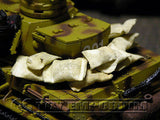 """RETIRED & BRAND NEW"" Build-a-Rama 1:32 Scale Hand Painted WWII Loose Sandbags Set (10 Piece Set)"