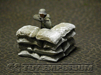 """RETIRED & BRAND NEW"" Build-a-Rama 1:32 Hand Painted WWII ""Winter"" Sandbag Wall Corner Section"