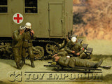 """BRAND NEW"" Custom Built - Hand Painted & Weathered 1:35 WWII Deluxe German ""Medical Troops - Africa""  Soldier Set (4 Figure Set)"