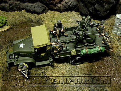 """BRAND NEW"" Forces Of Valor 1:32 Scale WWII  US 2.5 Ton Cargo Truck  w/ Quad 50 Cal. Machine Guns"