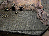 """BRAND NEW"" 1:32 Custom Painted & Weathered Deluxe Large Mountain Diorama Platform Exclusive"