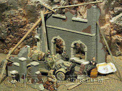 """RETIRED"" Pro Built - Hand Painted & Weathered Verlinden 1:35 Custom Built WWII Country House Ruin"