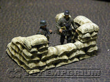 """RETIRED & BRAND NEW"" Build-a-Rama 1:32 Hand Painted WWII Deluxe Sandbag Wall Gun Position Section"
