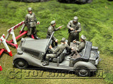 """BRAND NEW"" Custom Built - Hand Painted & Weathered 1:35 WWII German Sd Kfz.2 Police Car Set With 5  Figures"