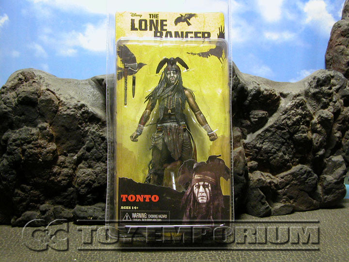 """BRAND NEW & SOLD OUT Disney/NECA Lone Ranger Figure Set MINT on Card"