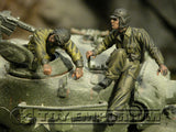 """BRAND NEW"" Custom Built & Hand Painted 1:35 WWII US Tank Bail Out Soldier Set (2 Figure Set)"