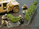 """RETIRED & BRAND NEW"" Build-a-Rama 1:32 Hand Painted WWII StoneHedge Wall Set (2 Piece Set)"