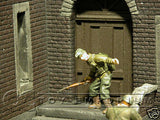 """RETIRED"" Pro Built - Hand Painted & Weathered 1:35 WWII Brick House Corner Diorama Ruin"