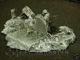 """RETIRED & BRAND NEW"" Build-a-Rama 1:32 Hand Painted WWII ""Winter"" Rubble Pile #3"