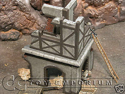 """RETIRED"" Pro Built - Hand painted & Weathered Verlinden 1:35 WWII Custom Gothic Village  Ruin"