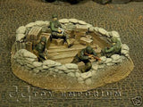 """RETIRED & BRAND NEW"" Build-a-Rama 1:32 Hand Painted WWII Sandbag Pit Ruin"