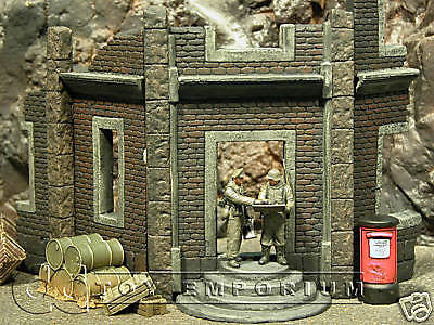 """RETIRED"" Pro Built - Hand Painted & Weathered 1:35 WWII Custom 2 Story Post Office Ruin"