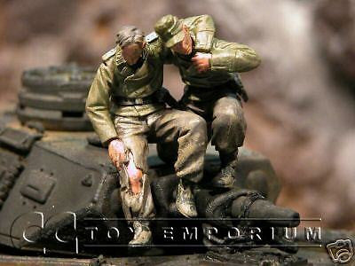 """BRAND NEW"" Custom Built & Hand Painted 1:35 WWII German Tank Bail Out Set (2 Piece Set)"