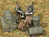"""RETIRED & BRAND NEW"" Build-a-Rama 1:32 Hand Painted WWII Stock Pile Set (2 Piece Set)"
