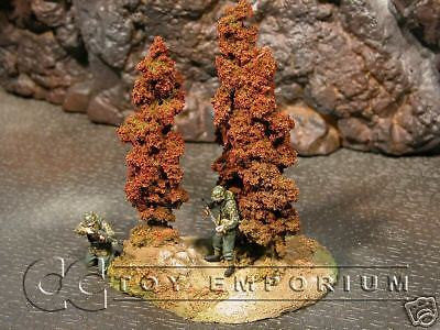 """RETIRED & BRAND NEW"" Build-a-Rama 1:32 Hand Painted WWII ""Fall"" Tree Group"