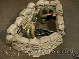 """RETIRED & BRAND NEW"" Build-a-Rama 1:32 Hand Painted WWII Sandbag Wall Set (3 Piece Set)"