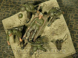 """BRAND NEW"" Custom Built & Hand Painted 1:35 WWII US Stretcher Team Diorama Set (5 Figure Set)"