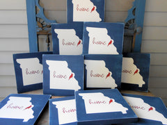 Home State Box Signs