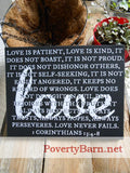 1 Corinthians Love Verse Canvas Design -Canvas Designs -PovertyBarn - 3
