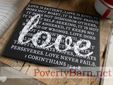 1 Corinthians Love Verse Canvas Design -Canvas Designs -PovertyBarn - 5