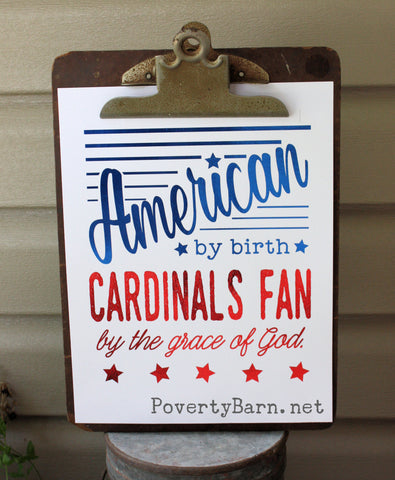 American Cardinals Fan Foil Print -Foil Print -PovertyBarn