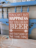Beer and Happiness Hand Painted Wood Box Style Sign -Box Style Signs -PovertyBarn - 5