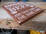 Beer and Happiness Hand Painted Wood Box Style Sign -Box Style Signs -PovertyBarn - 2