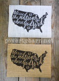 Blessed is the Nation Burlap Print -Burlap Prints -PovertyBarn - 3