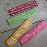 Children's Book Quotes Hand Painted Wood Plank Sign -Plank Signs -PovertyBarn - 1