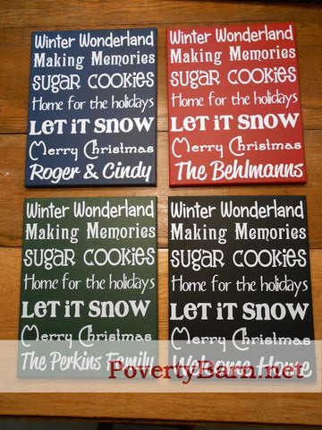 Personalized Christmas Subway Art Style Canvas Design -Canvas Designs -PovertyBarn - 1
