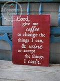 Coffee and Wine Prayer Hand Painted Wood Box Style Sign -Box Style Signs -PovertyBarn - 3