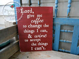 Coffee and Wine Prayer Hand Painted Wood Box Style Sign -Box Style Signs -PovertyBarn - 4