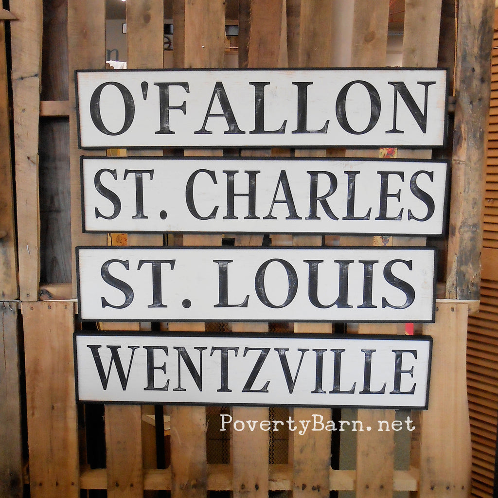 Vintage Look Railroad Depot Style Signs
