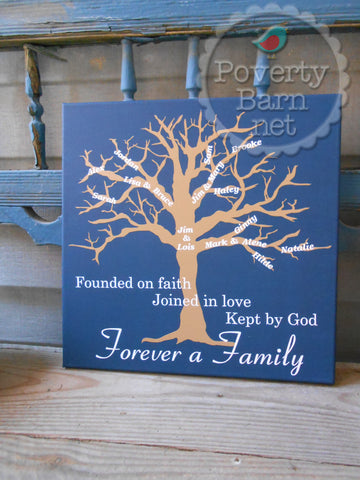 Family Tree Personalized Canvas Design -Canvas Designs -PovertyBarn - 1