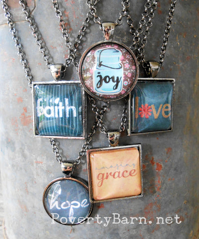 Inspirational Pendant Necklace or Key Ring -Everything Else -PovertyBarn - 1