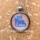 Home State Pendant Necklace or Key Ring -Everything Else -PovertyBarn - 4