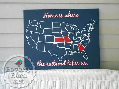 Home is Where the Railroad Takes Us Personalized Canvas Design -Canvas Designs -PovertyBarn - 1