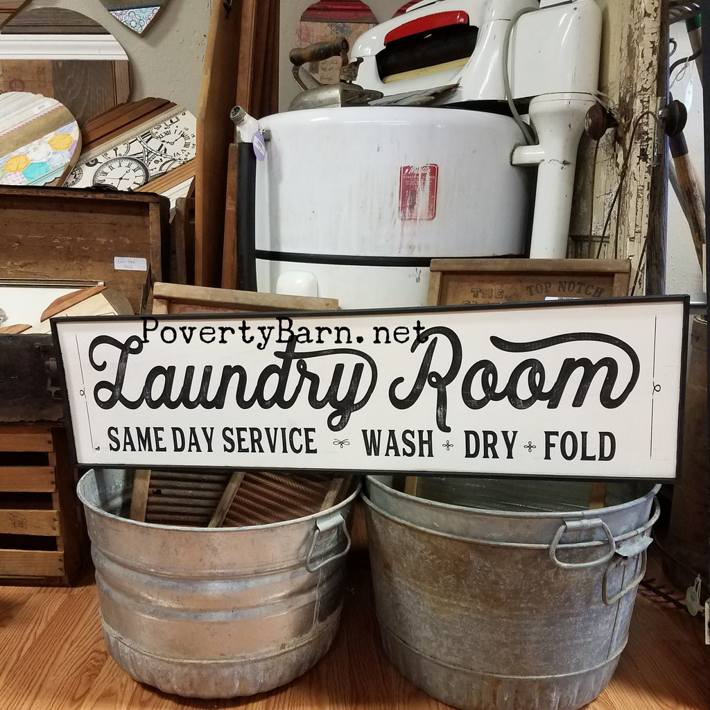 Vintage Look Laundry Room Sign