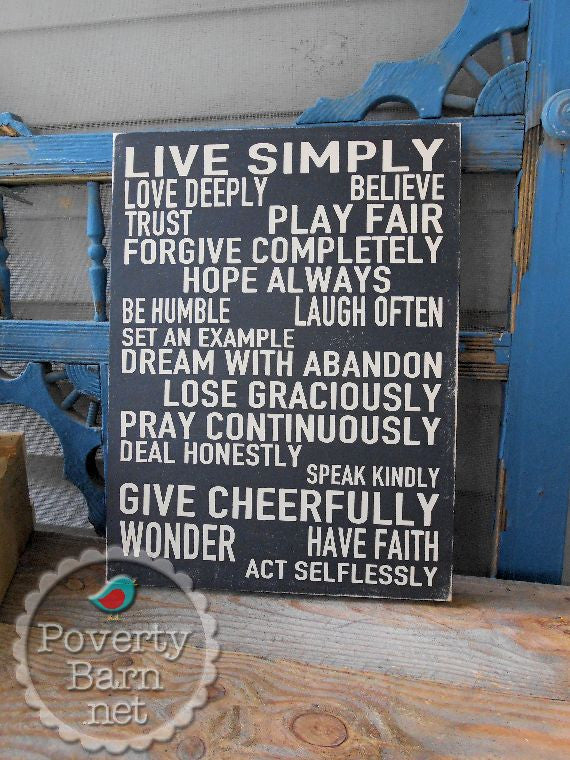Life Lessons Hand Painted Wood Box Style Sign -Box Style Signs -PovertyBarn - 1