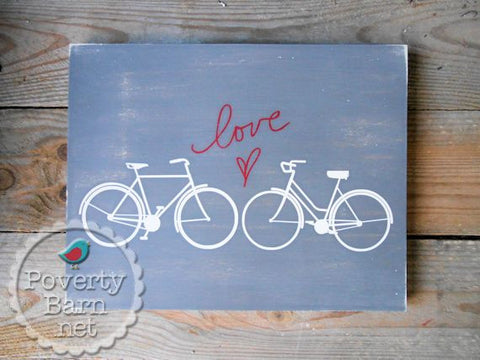 Love Spoke Hand Painted Wood Box Style Sign -Box Style Signs -PovertyBarn - 1