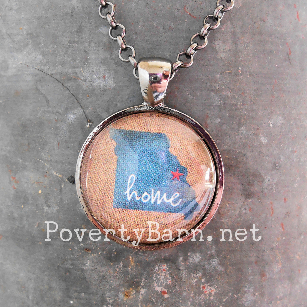 Home State Pendant Necklace or Key Ring -Everything Else -PovertyBarn - 1