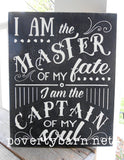 Master of My Fate Captain of My Soul Hand Painted Wood Box Style Sign -Box Style Signs -PovertyBarn - 4