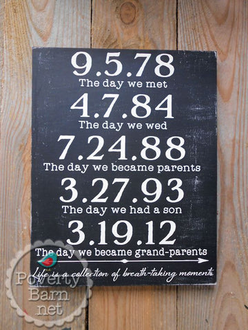Life is a Collection of Breath-Taking Moments Hand Painted Wood Sign -Box Style Signs -PovertyBarn - 1