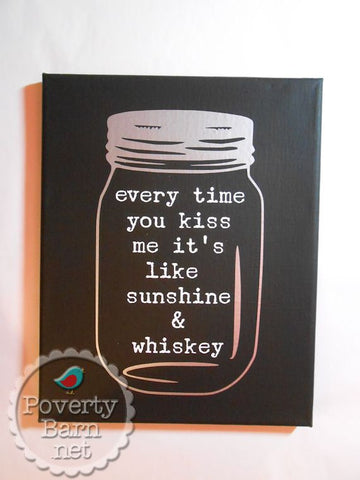 Sunshine and Whiskey Canvas Design -Canvas Designs -PovertyBarn - 1