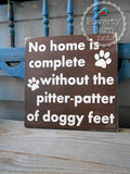 Pitter Patter of Doggy Feet Hand Painted Wood Box Style Sign -Box Style Signs -PovertyBarn - 5