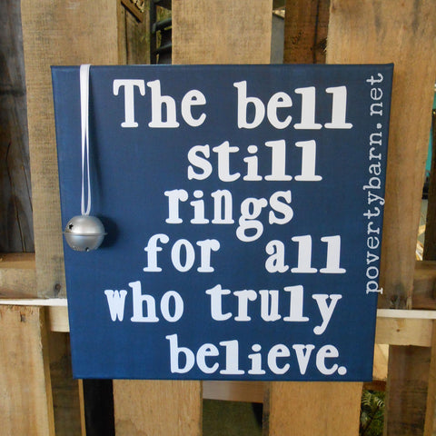 Polar Express The Bell Still Rings Christmas Canvas Design -Canvas Designs -PovertyBarn - 1
