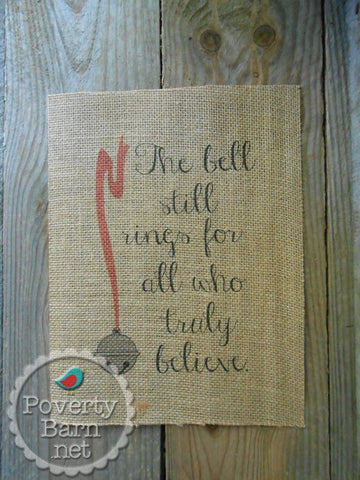 The Bell Still Rings Burlap Print -Burlap Prints -PovertyBarn - 1