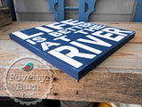 Life is Better on the River Hand Painted Wood Box Style Sign -Box Style Signs -PovertyBarn - 2